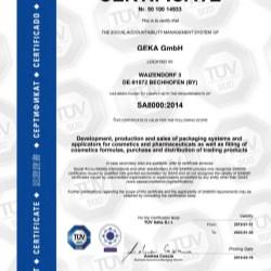 SA 8000:2014 - GEKA